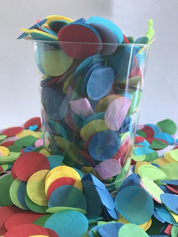 Confetti Assorted Tissue Circles 2cm Round