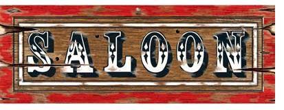 Western Saloon Sign Cutout
