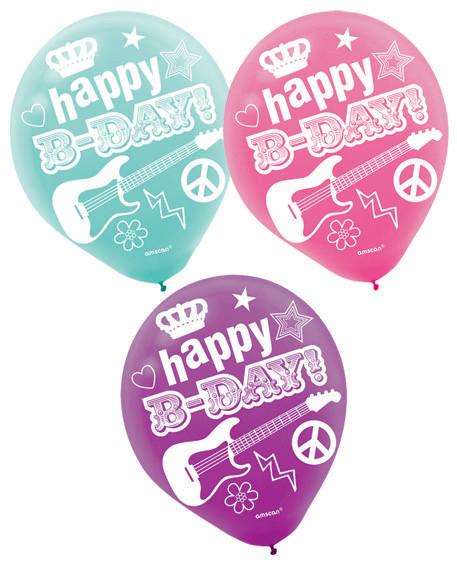 Rocker Princess 30cm Latex Balloons