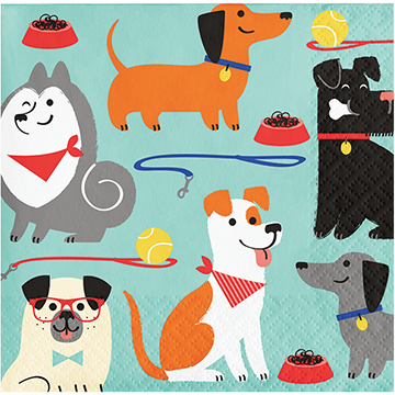 Dog Party Beverage Napkins