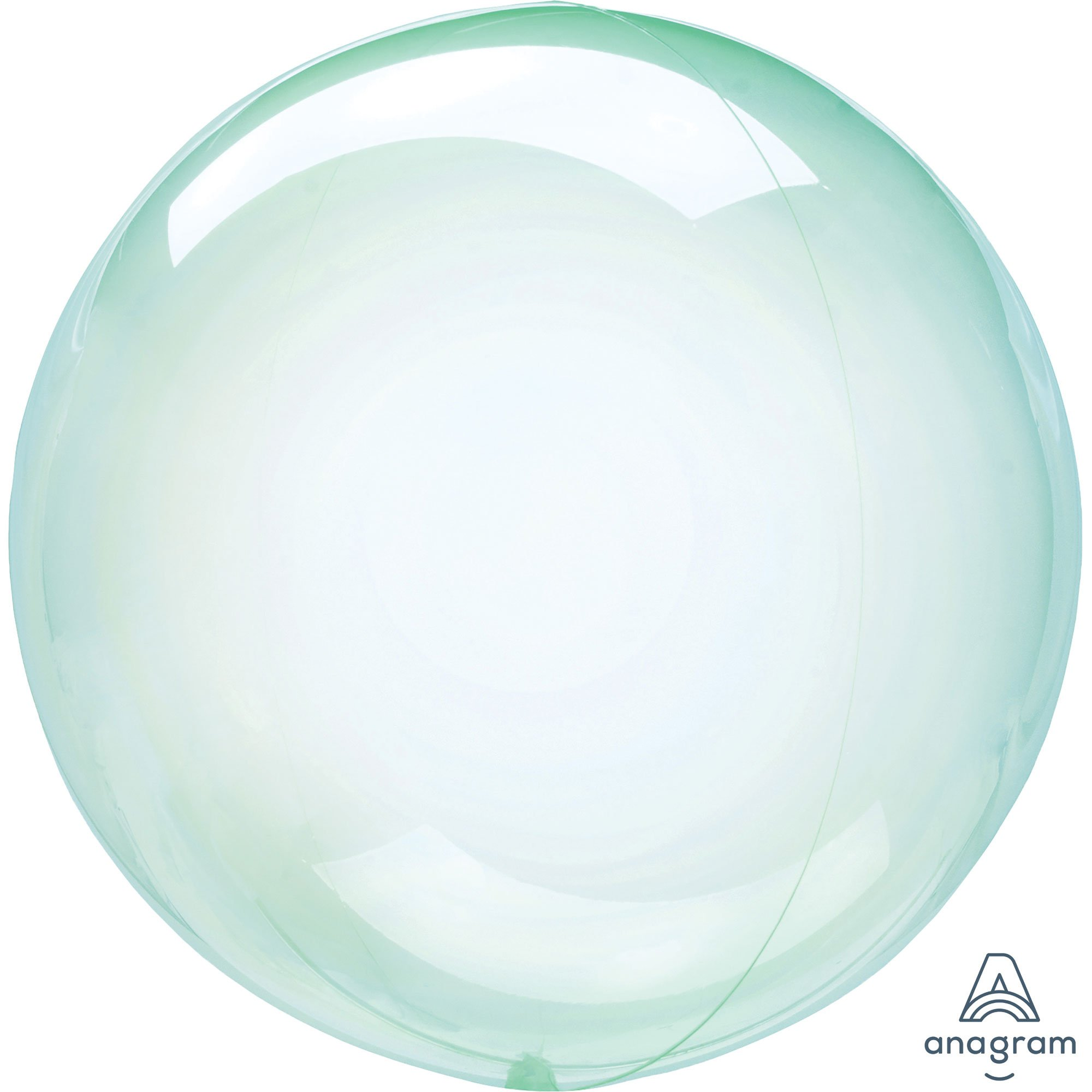 Crystal Clearz Green Round Balloon S40