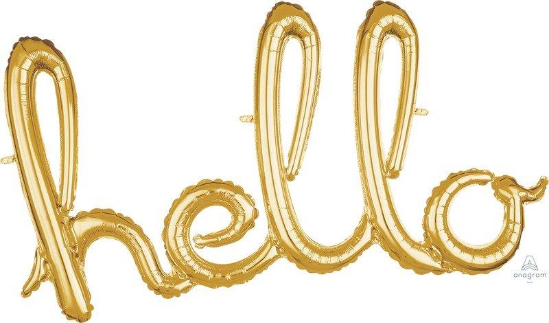 CI: Script Phrase hello Gold G40