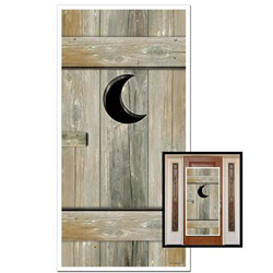 Western Outhouse Door Cover