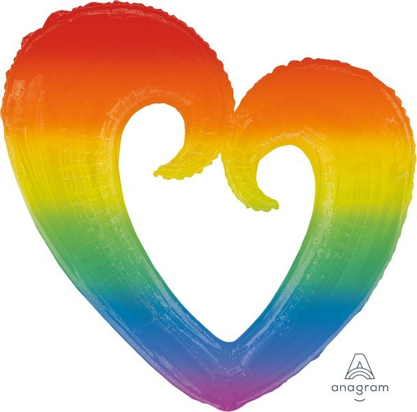 SuperShape XL Rainbow Open Heart P35