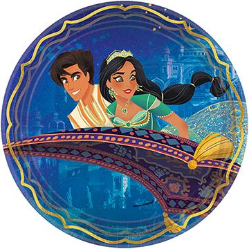 """Aladdin 9""""/ 23cm Round Metallic Paper Plates"