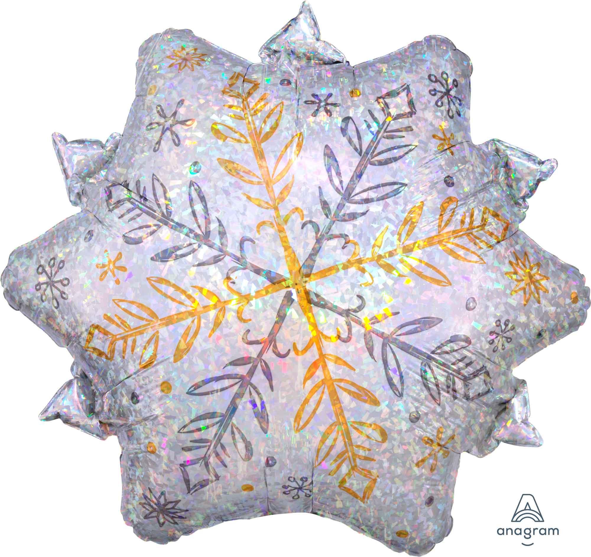 Junior Shape Holographic Shining Snowflake S80
