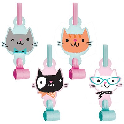 Purrfect Party Blowouts with Medallions