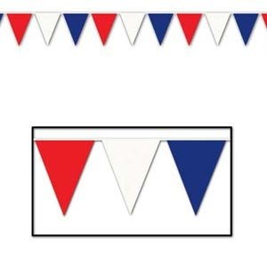Pennant Flag Banner Large Red, White & Blue