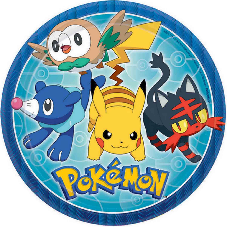 Pokémon Core 23cm Round Plates