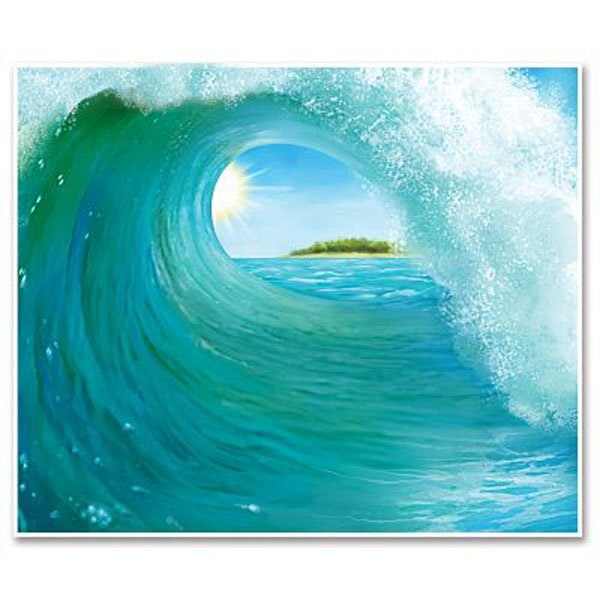 Backdrop Luau Surf Wave Scene Setter