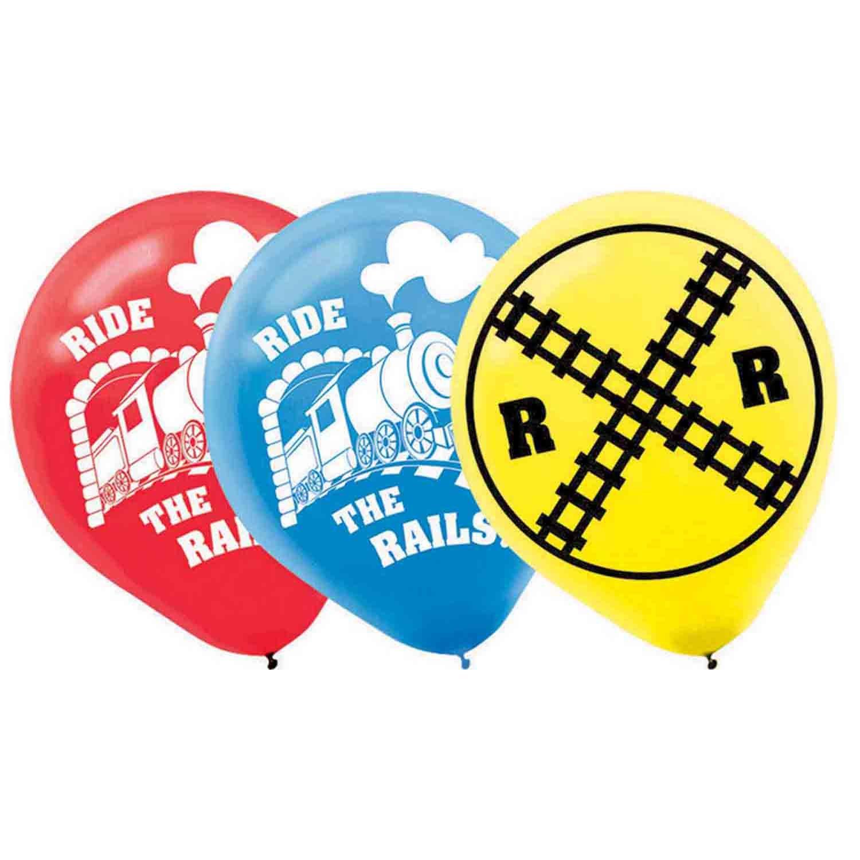 Trains 30cm Latex Balloon