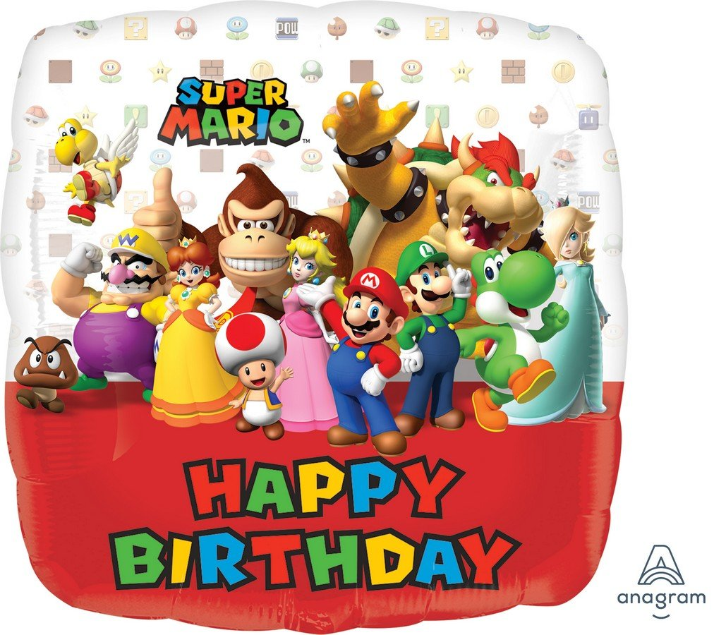 45cm Standard HX Super Mario Brothers Happy Birthday S60