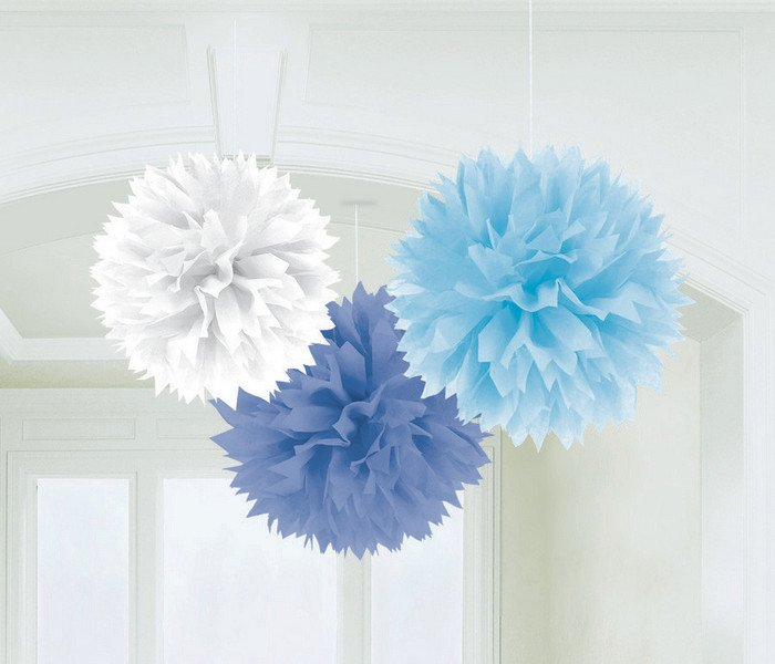 Baby Boy Blue Fluffy Decorations