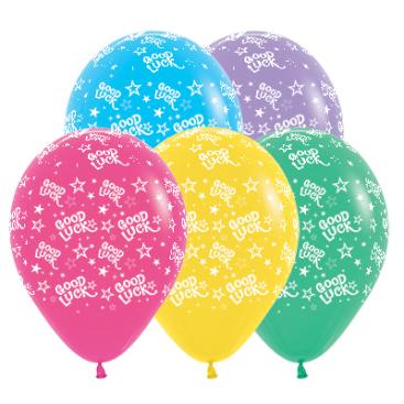 Sempertex 30cm Good Luck Stars Fashion Assorted Latex Balloons, 25PK