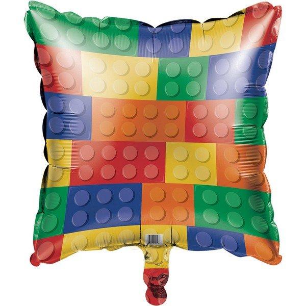 45cm Block Party Square Foil Balloon