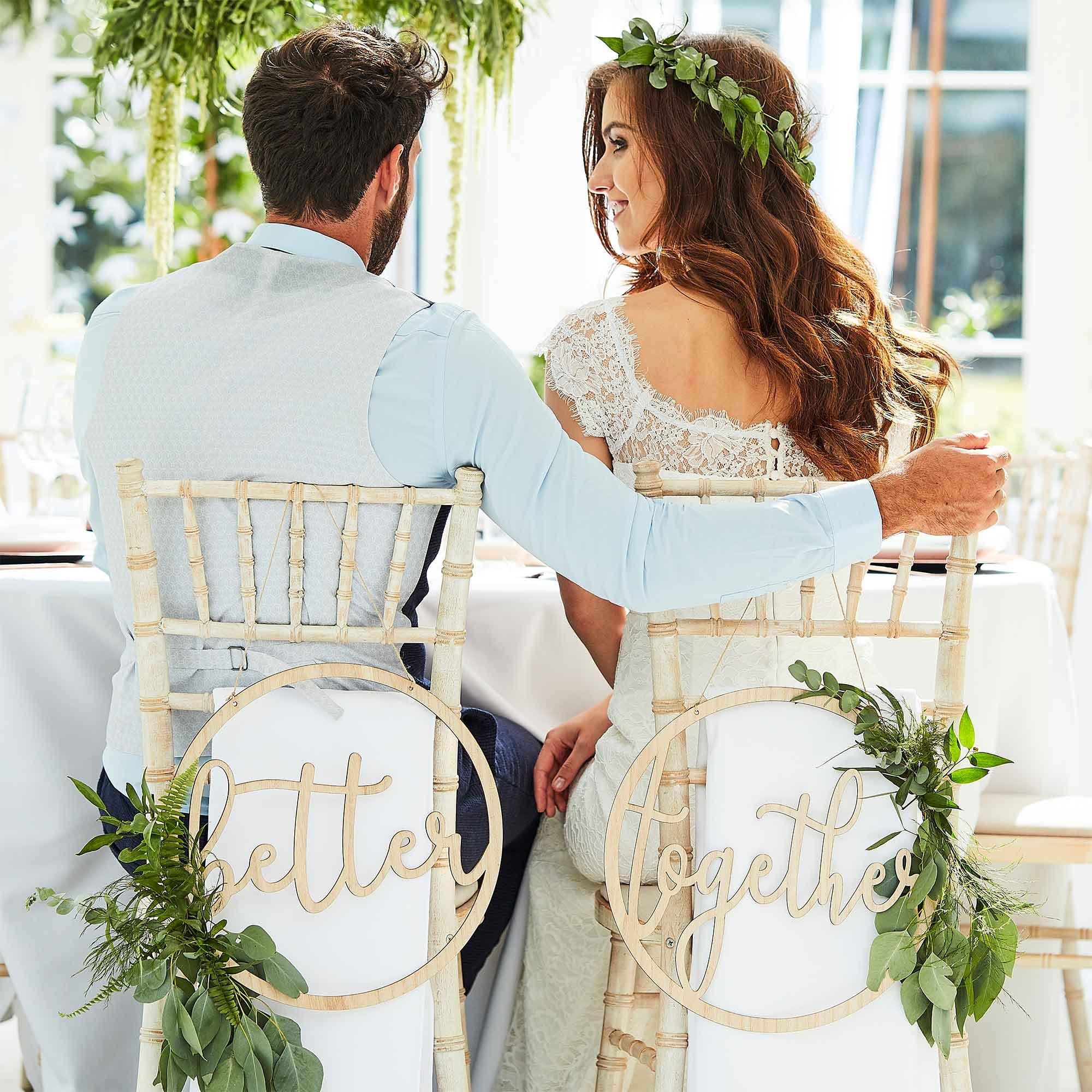 Botanical Wedding Wooden 'Better Together' Wooden Hoops