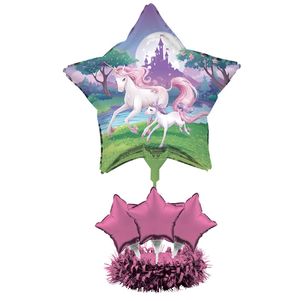 Unicorn Fantasy Air Filled Balloon Centrepiece Kit 61cm