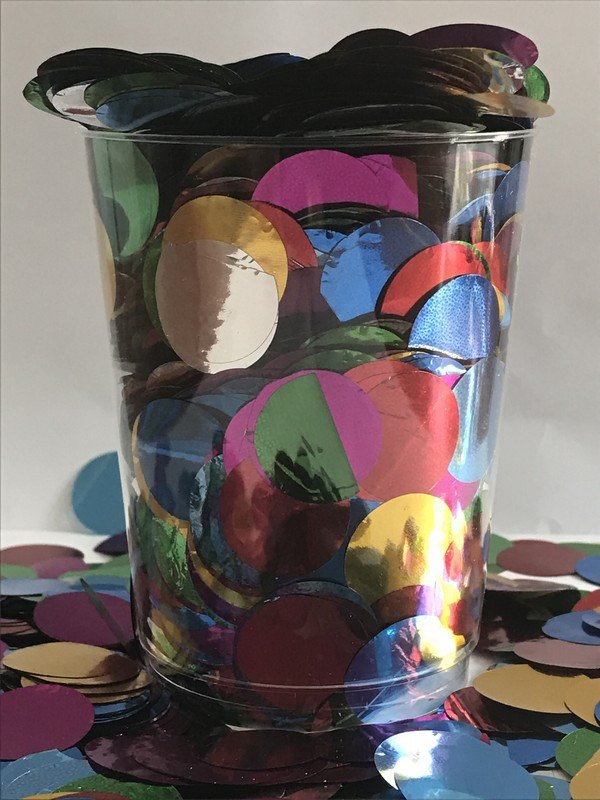 Confetti Assorted Metallic Circles 2cm Round