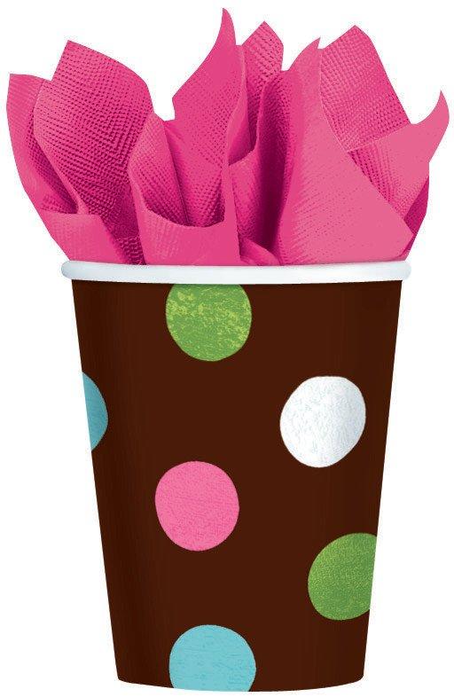 Warm Polka Dot MID  Pack 266ml Cups