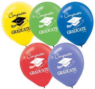 Grad 30cm Latex Balloons - Multicolour
