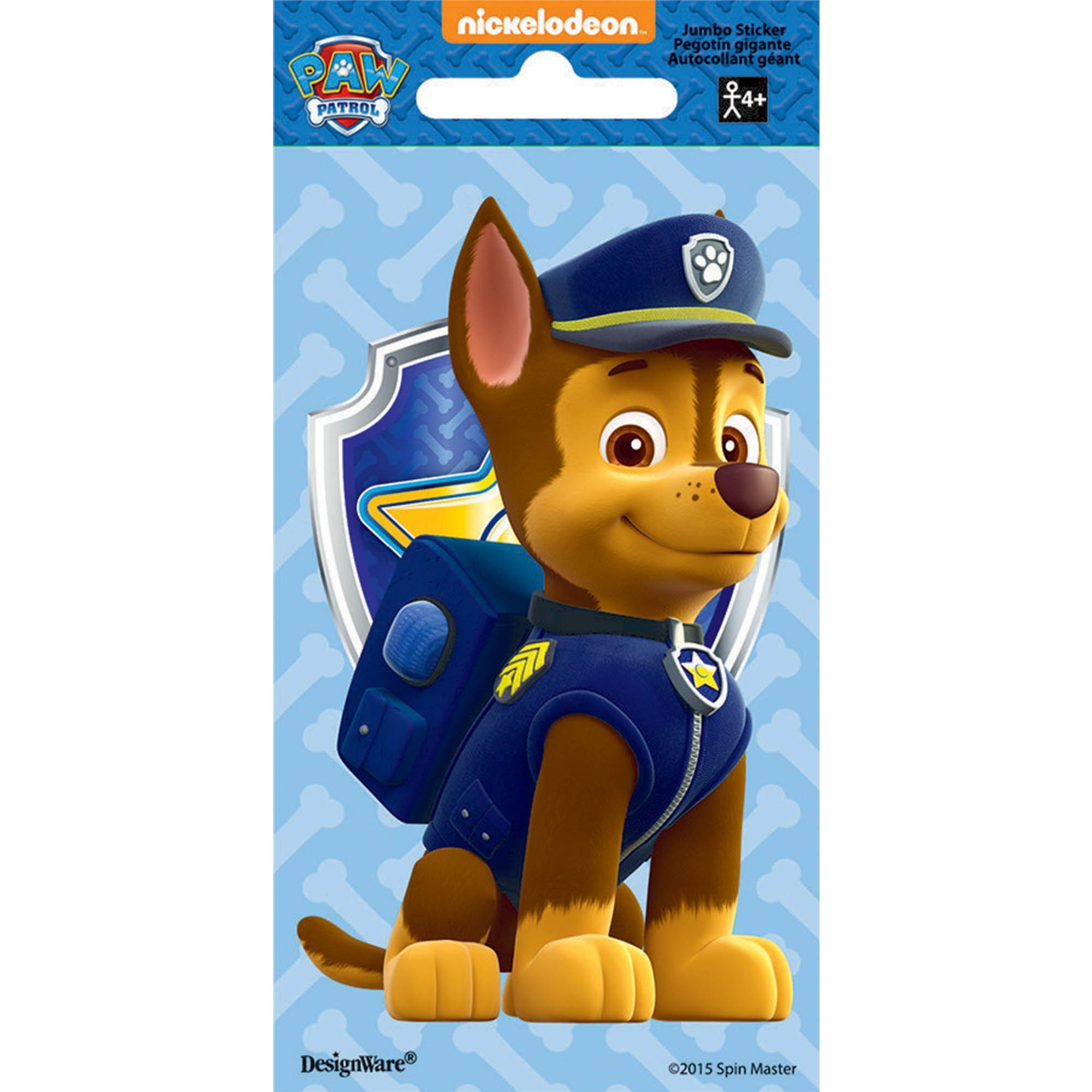 Stickers Jumbo Favor Paw Patrol Chase
