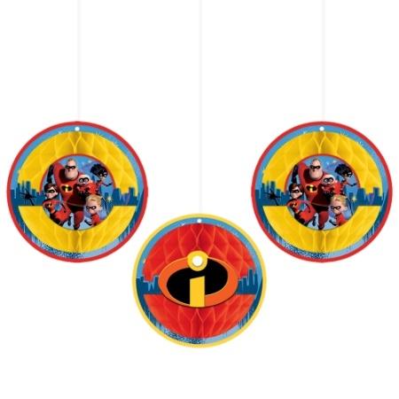 Incredibles 2 Honeycomb Decorations
