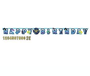 Battle Royal Jumbo Happy Birthday Add-An-Age Letter Banner