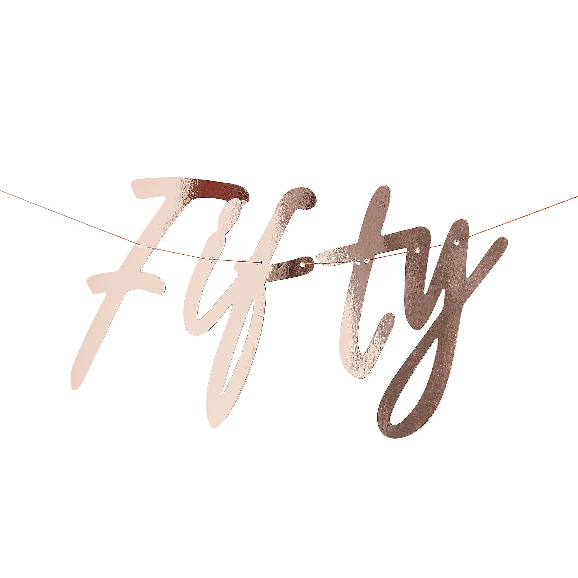Mix it Up Banner Fifty Rose Gold Foiled
