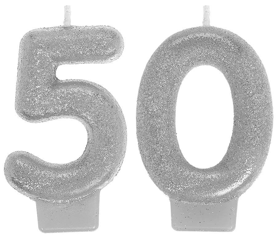 Sparkling Celebration Numeral Candles 50th