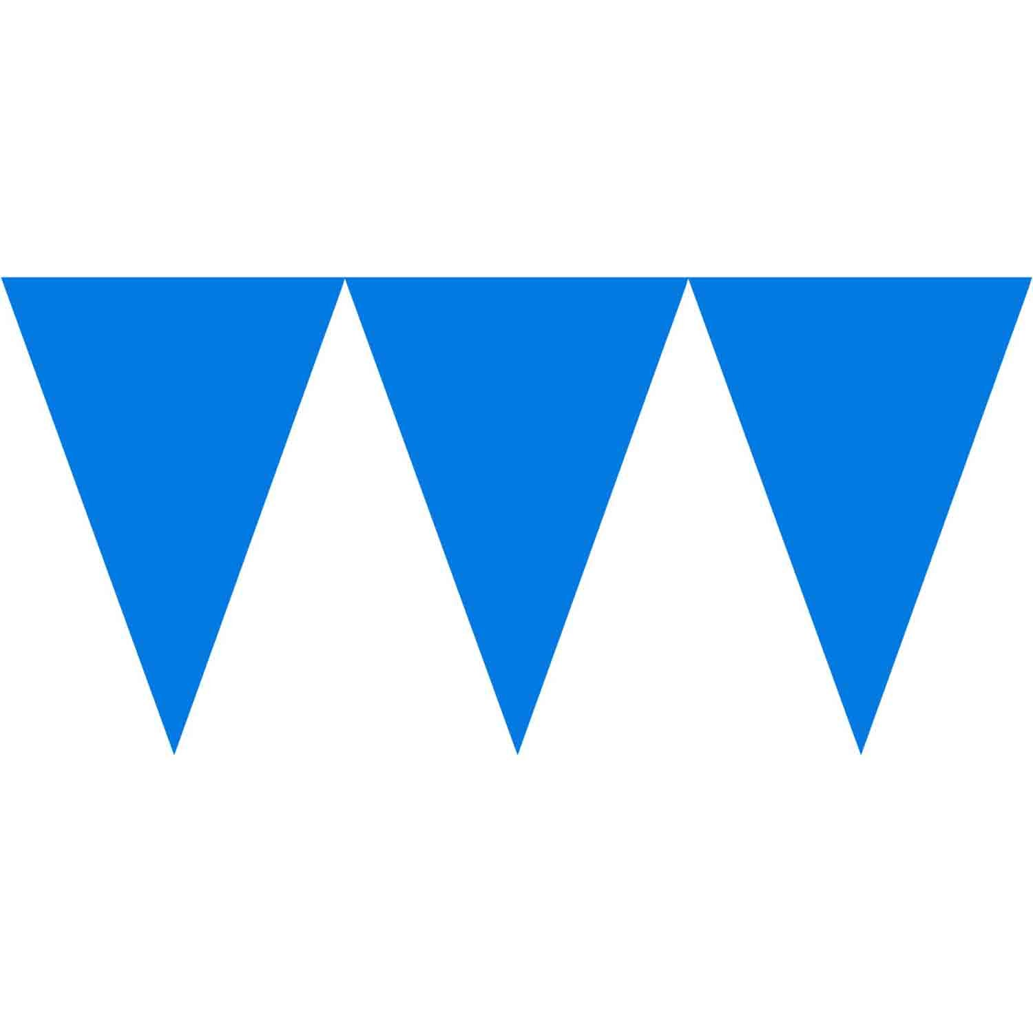 Paper Pennant Banner - Bright Royal Blue