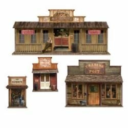 Western Wild West Town Wall Decorations Insta-Theme Props