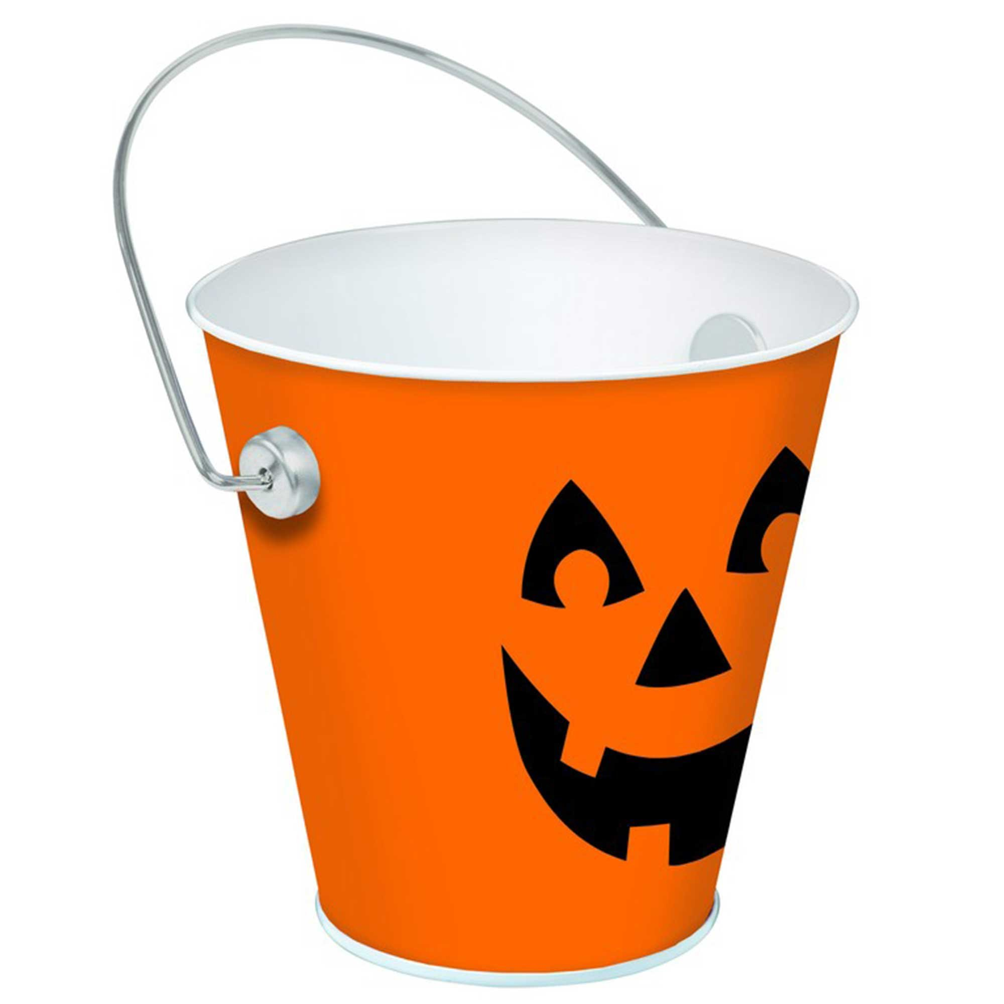 Jack-O'-Lantern Bucket Favor Container Metal