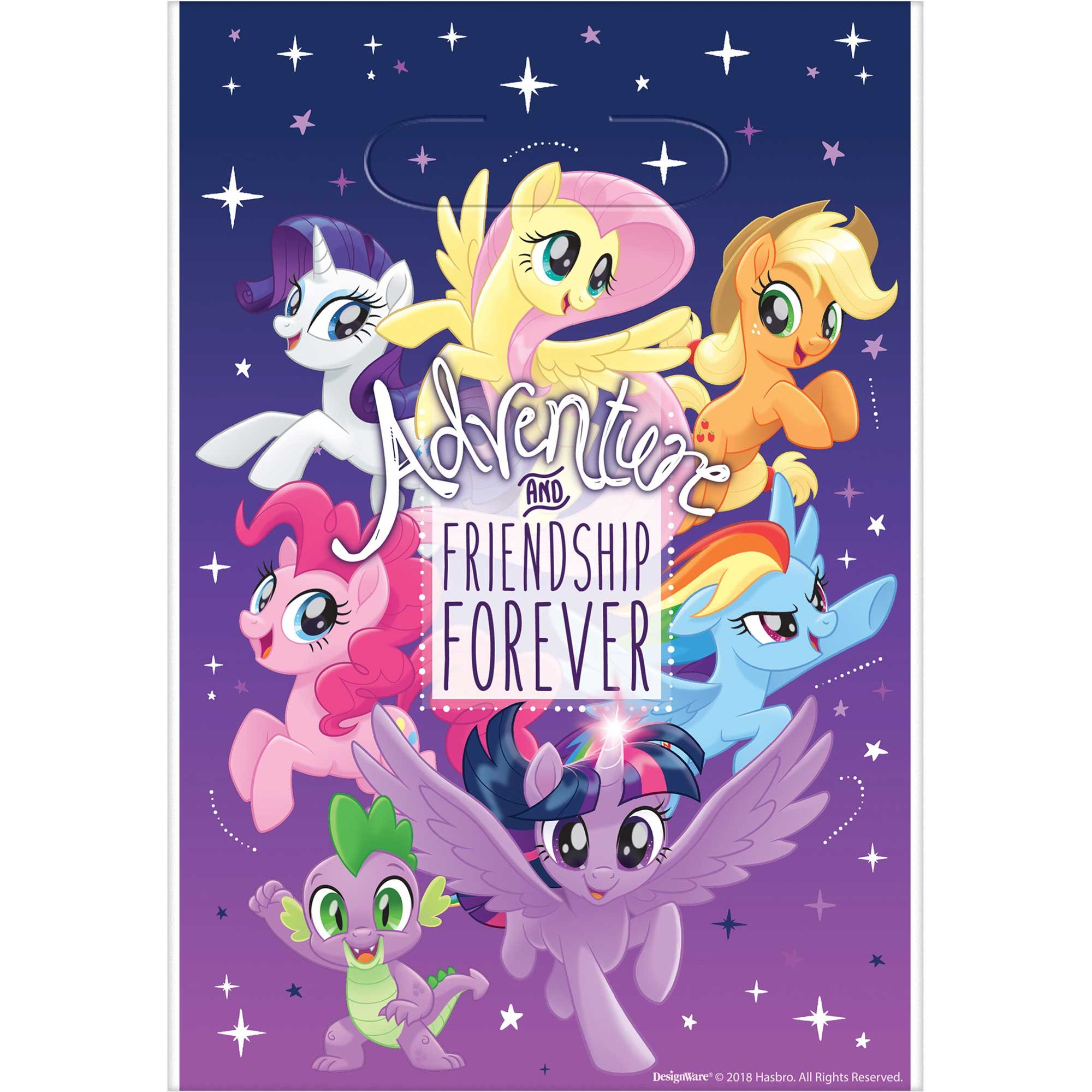 My Little Pony Friendship Adventures Folded Loot Bags