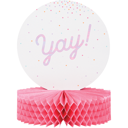 Iridescent Foil Centrepiece Honeycomb Yay!