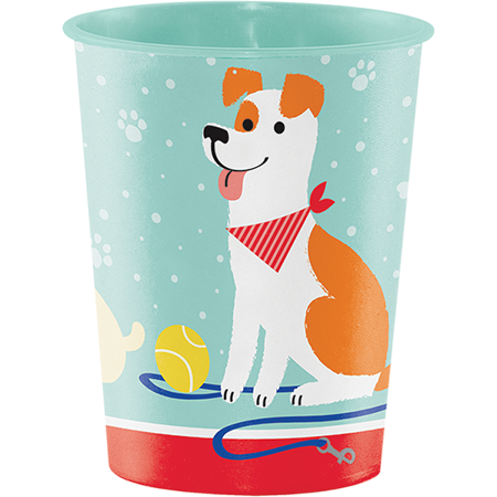 Dog Party Keepsake Souvenir Favor Cup Plastic 473ml