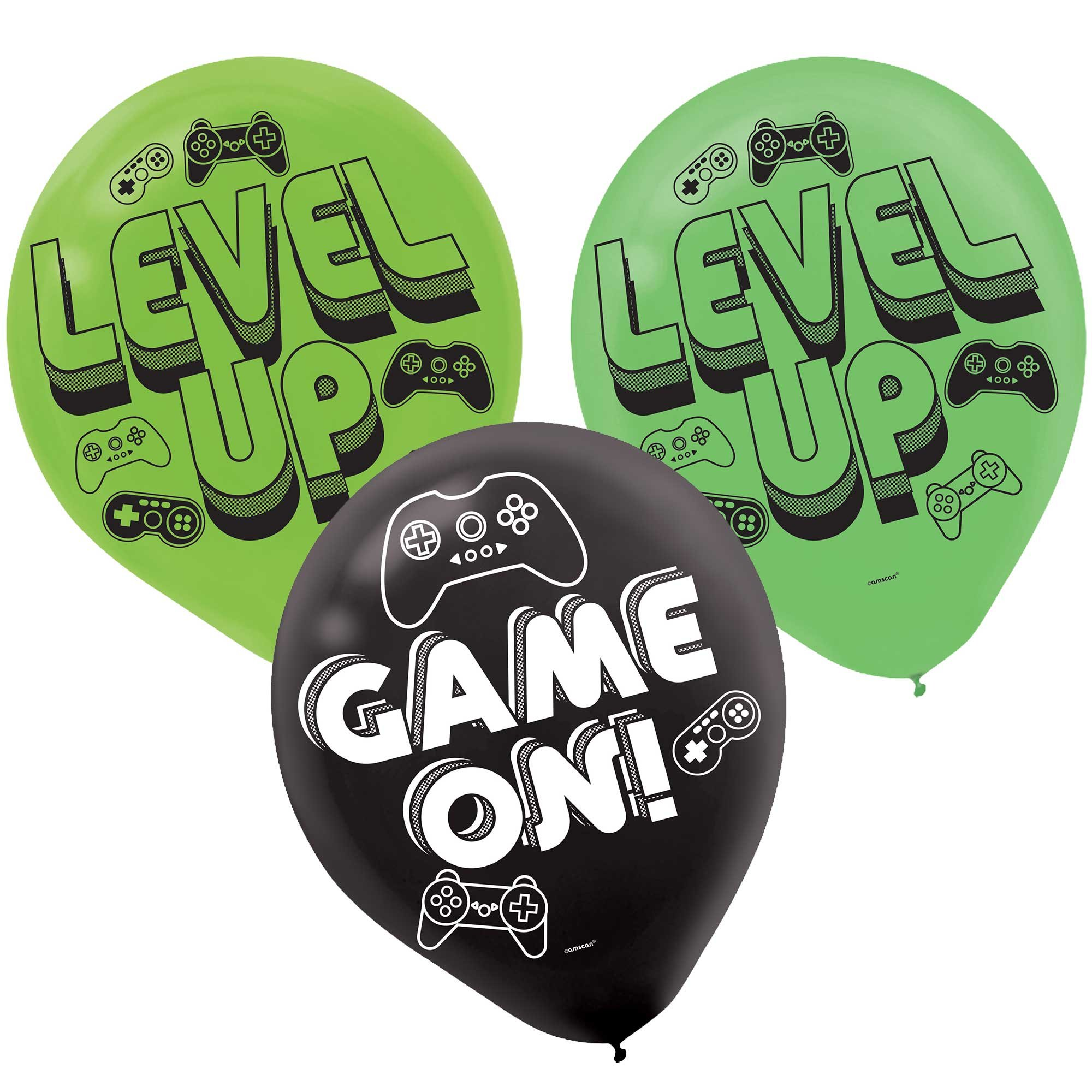 Level Up Game On 30cm Latex Balloons