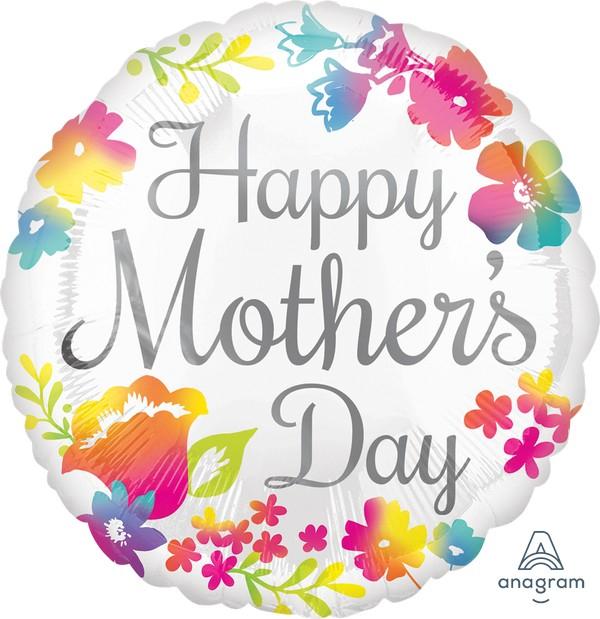 45cm Standard HX Happy Mother's Day Watercolour S40