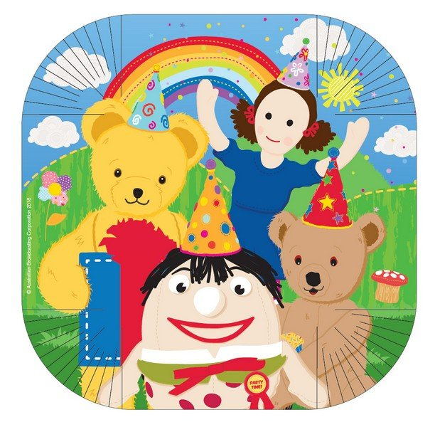 """Play School 10""""/25.4cm Square Plates"