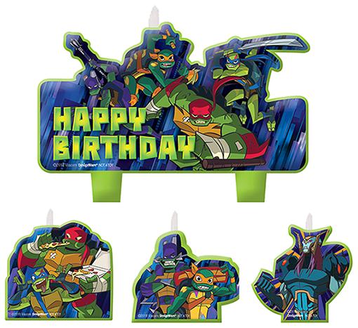 Rise of the Teenage Mutant Ninja Turtles Birthday Candle Set