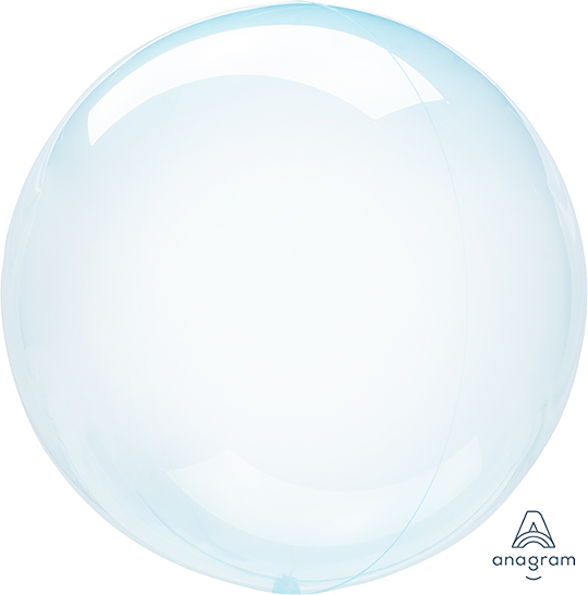 Crystal Clearz Blue Round Balloon S40