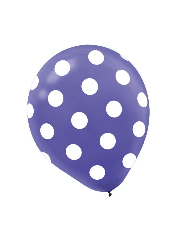30cm Latex Balloon  Dots New Purple