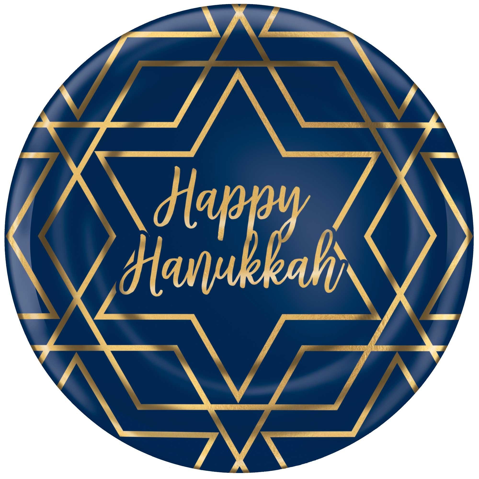 """Hanukkah Dinner Plates Plastic Hot Stamped 10.5""""/26.6cm"