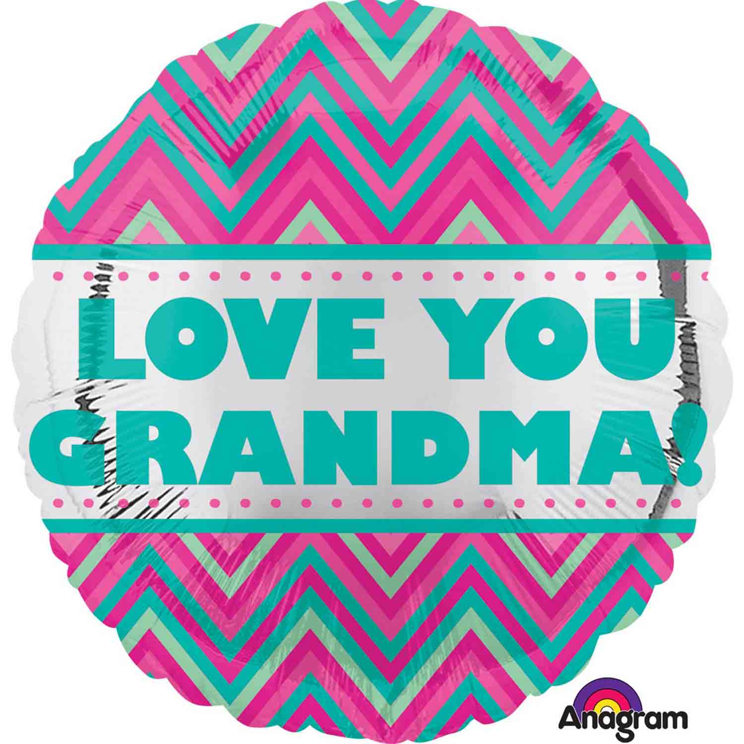 45cm Standard HX Love You Grandma Chevron S40
