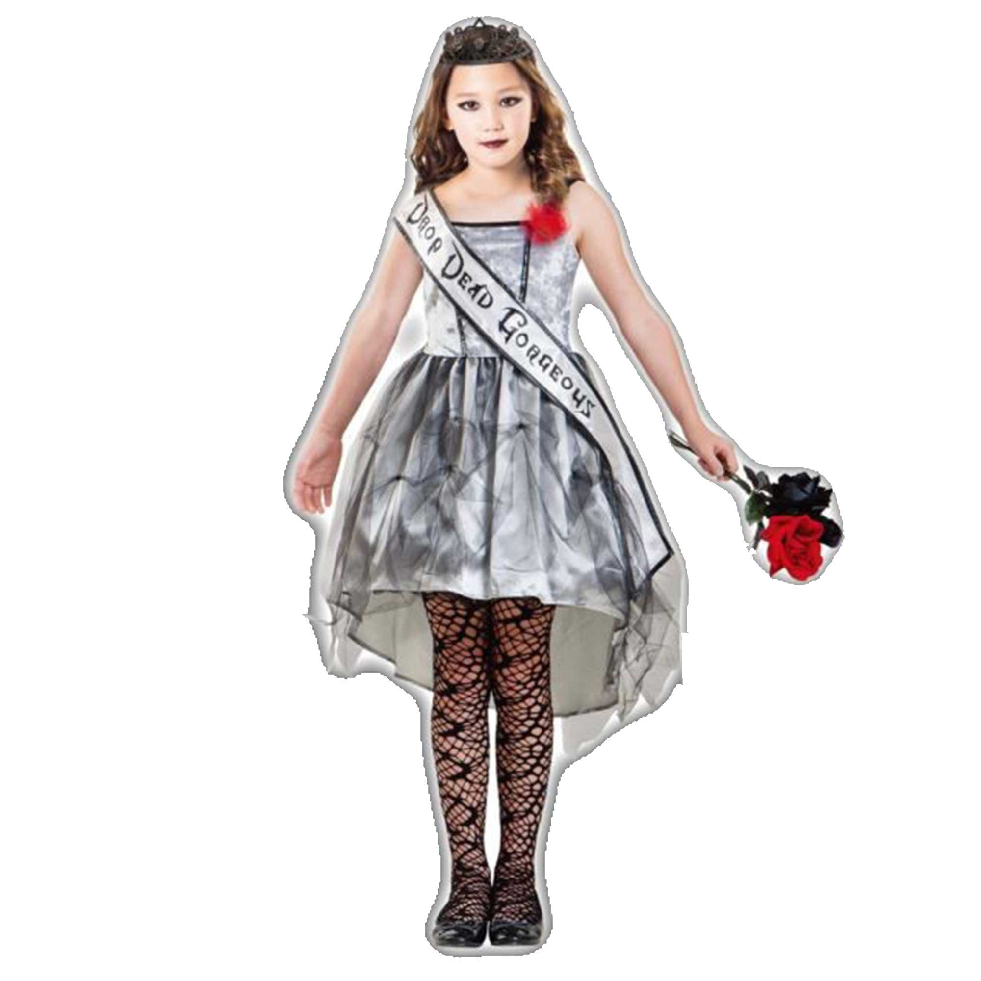 Costume Gothic Beauty Queen Girls 8-10 Years
