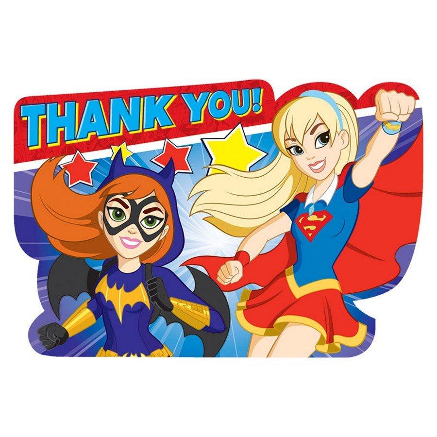 DC Superhero Girls Thank You Cards