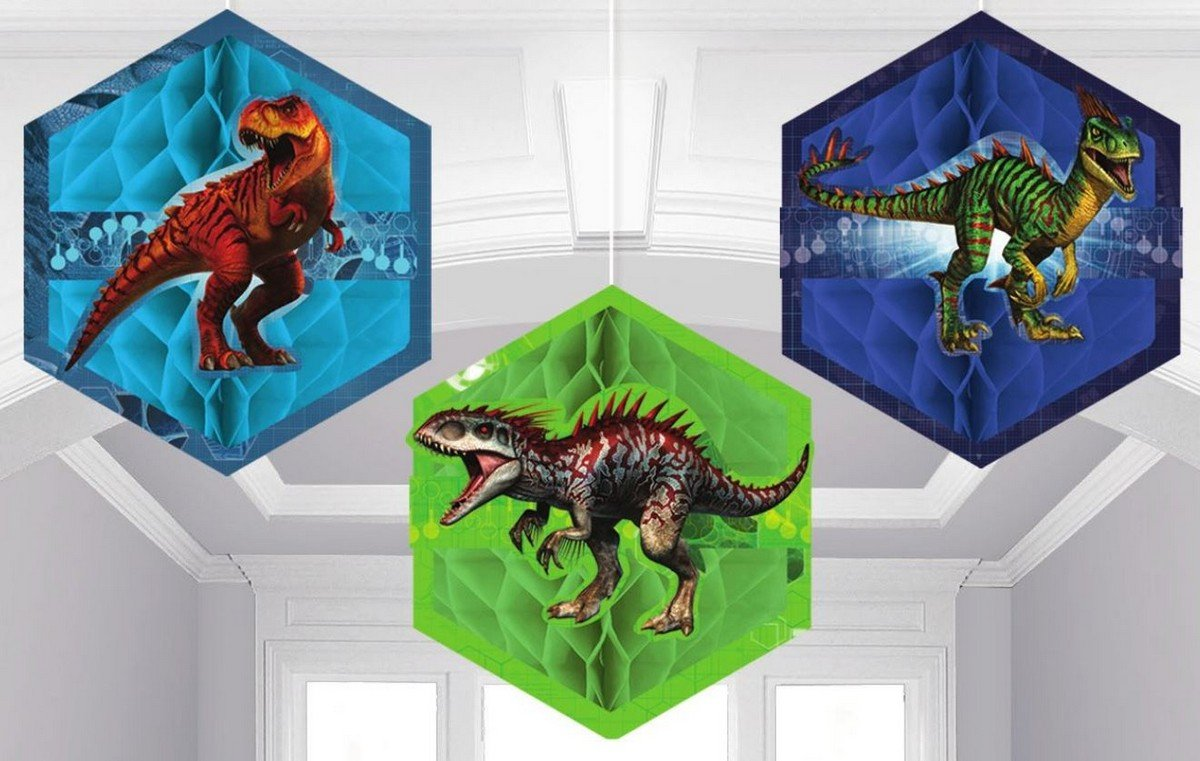Jurassic World Honeycomb Decorations - Tissue & Printed Paper