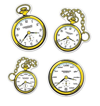 Tea Party Clocks Cutouts