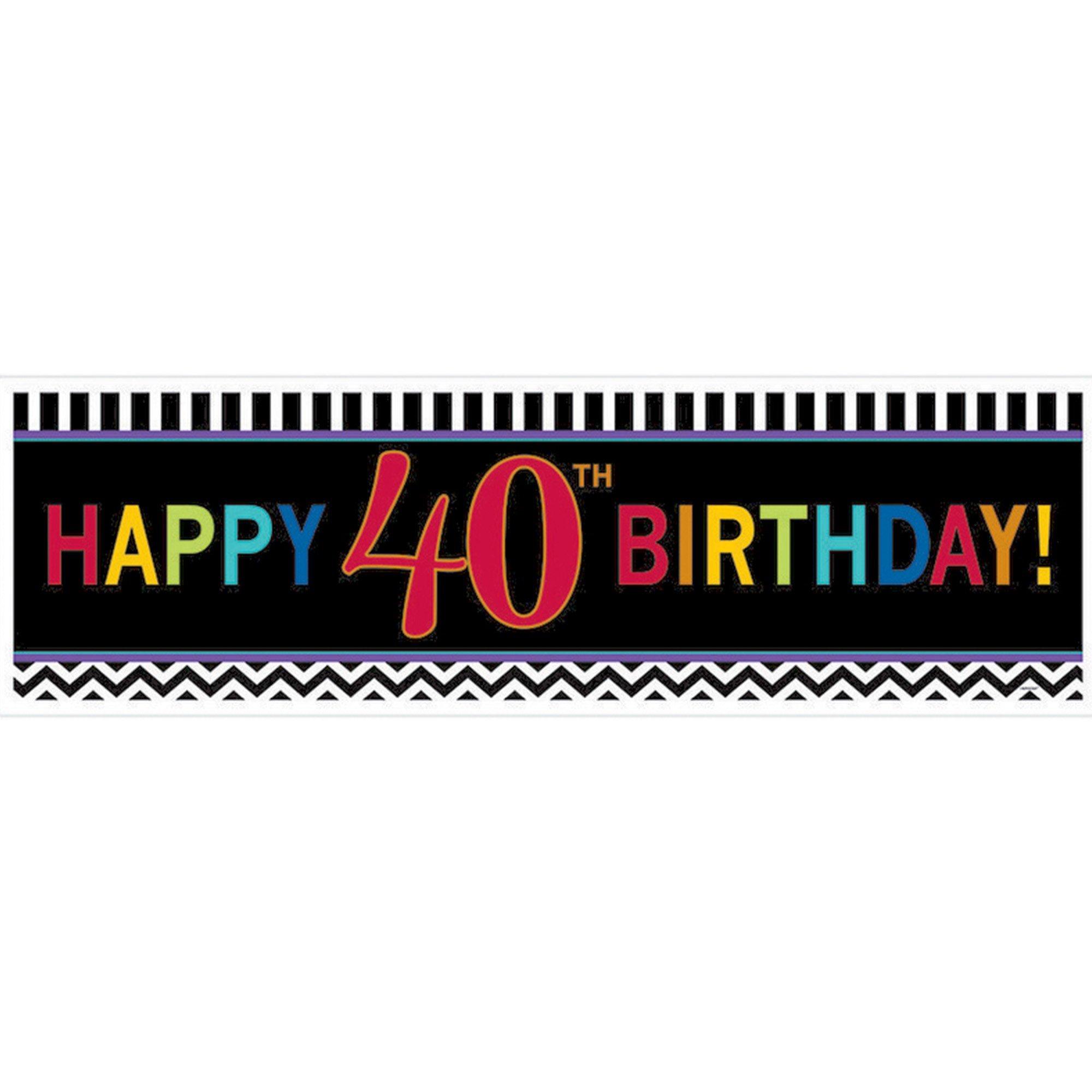 40th Birthday Celebration Giant Banner