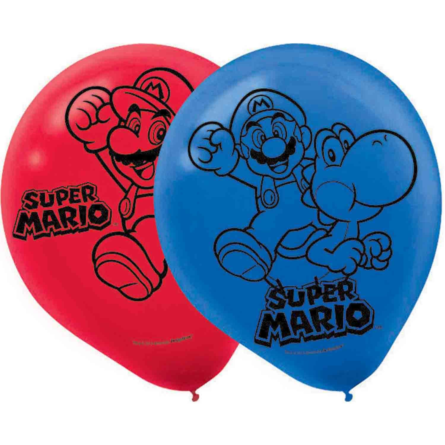 Super Mario Brothers 30cm Latex Balloons
