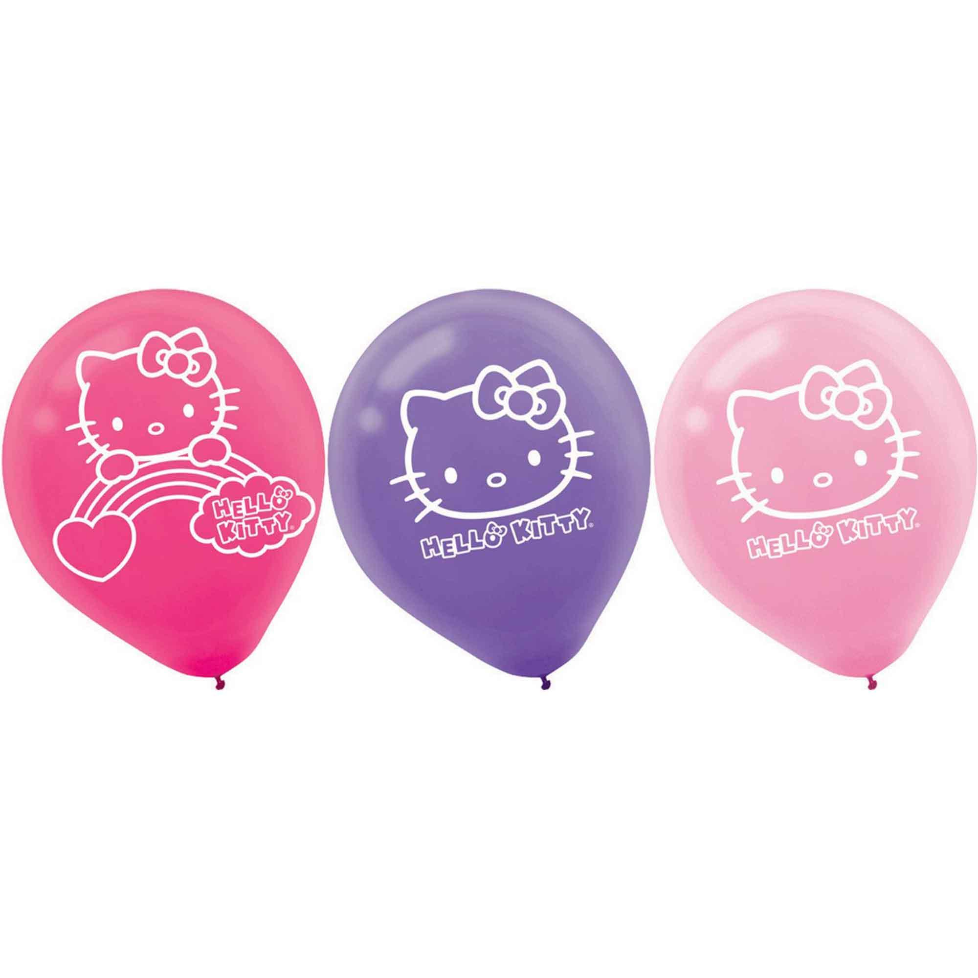 Hello Kitty Rainbow 30cm Latex Balloons